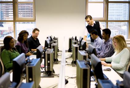Adult computer classroom